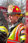 A Massapequa Ex-Chief on the scene of a working tanker truck fire in Massapequa on February 16th, 2014.