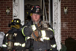 A Westbury firefighter on the scene of a Madison Street working fire on February 14th, 2014.