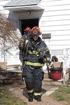 A Valley Stream firefighter on the scene of a working fire on Hamilton Avenue [2-20-17].