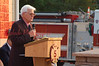 Shamokin Mayor Ronald Bradley speaks at the dedication ceremony.