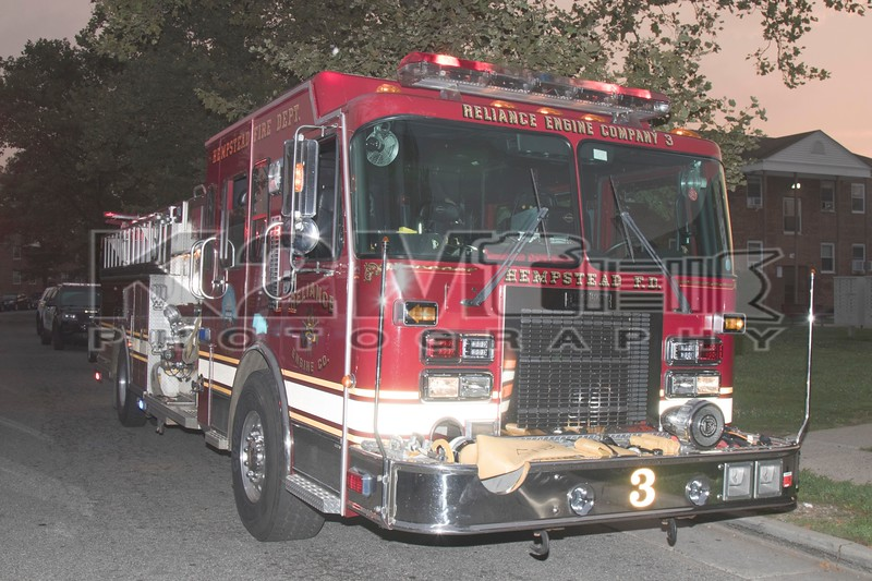 Wednesday, August 21st, 2019: Hempstead firefighters operated on the scene of an electrical fire in the apartment on Martin Luther King Drive.  There was extension to a bed and three occupants evaluated on the scene for smoke inhalation.  Firefighters stretched one precautionary hand line.