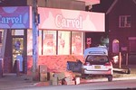 Wednesday, June 12th, 2019: the Hempstead Fire Department was called to a car versus building at the intersection of Jerusalem Avenue and Spencer Place.  Upon arrival firefighters found a single vehicle accident at Carvel [318 Jerusalem Avenue].  The car struck a small post in front of the building resulting in at least two people being injured.  Northwell and the Hempstead Fire Department each transported one to area hospitals.  The scene was turned over to Hempstead Police.