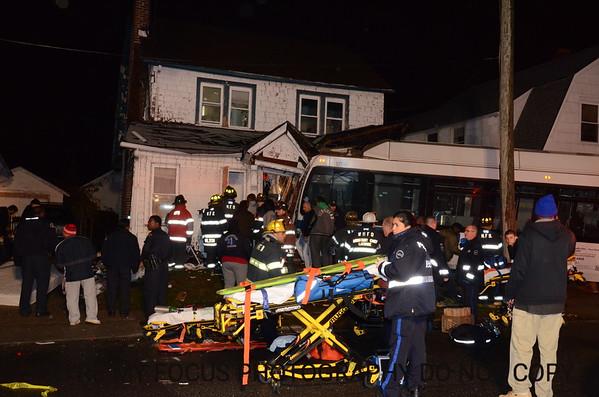 Bus Vs. House Fulton Ave(11-27-12)