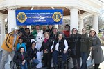 Members of the Lakeview Fire Department and West Hempstead Lions Club at Halls Pond for the annual Easter egg hunt and photos with the Easter bunny [4-8-17].