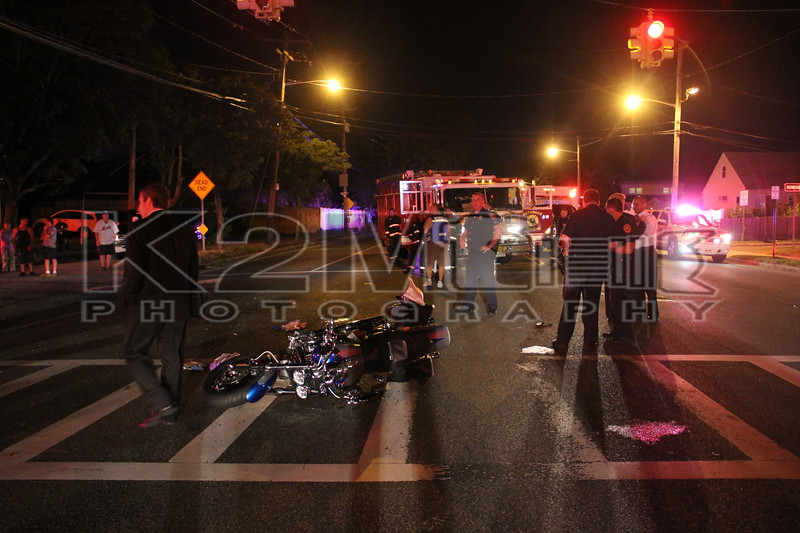 Wednesday, June 29th, 2011: the Levittown Fire Department was called to a motor vehicle accident with motorcyclist down in front of the Nassau County Police's 8th Precinct on North Wantagh Avenue.  At least two people were transported to area hospitals.