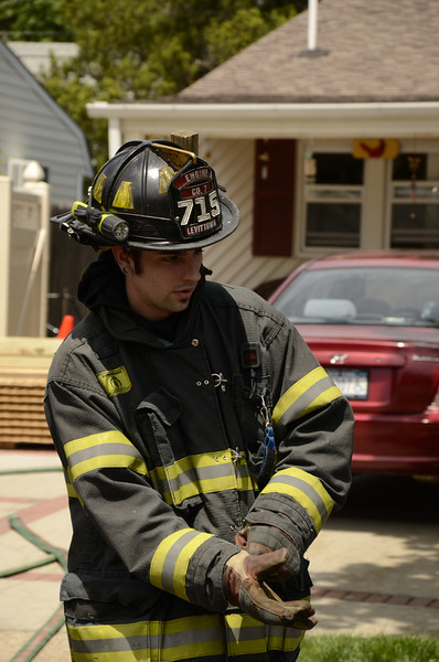 Hose packing at Bayberry House Fire