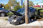 Tuesday, September 24th, 2013: the Malverne Fire Department was dispatched to a motor vehicle accident with possible pin at South Franklin and Hendrickson Avenues.  Upon arrival firefighters were met with a single vehicle accident with negative entrapment.