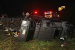 Sunday, September 23rd, 2012: Malverne FD and NCPD ESU operated on the scene of a motor vehicle accident with overturn on the eastbound Southern State Parkway between exits 14 and 15.