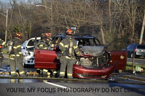 Car Fire Sunrise & Lakeshore Blvd