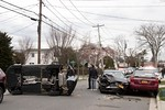 April 17th, 2018: the Merrick Fire Department and Nassau County Police were called to this multi vehicle accident with overturn on Montauk Avenue.  There was no entrapment or aided.