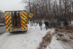 Saturday, January 21st, 2012: the North Bellmore was toned out for a motor vehicle accident on the Southern State Parkway at Newbridge Road.  Upon arrival, the Chief advised there were no aided on scene and that he had one car into the woods.