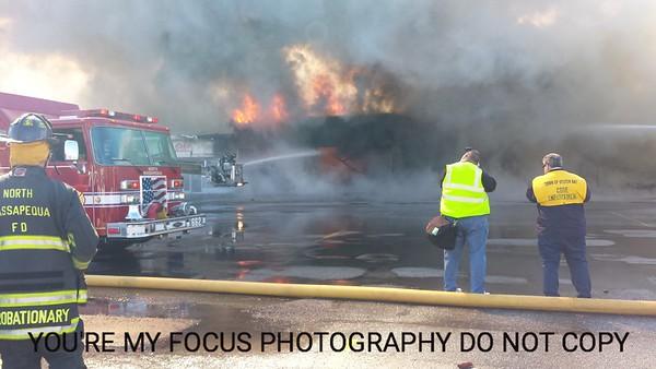 Hicksville Rd fire