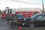 Sunday, December 27th, 2020: the North Merrick Fire Department operated on the scene of a motor vehicle accident with aided at the intersection of Merrick and Jerusalem Avenues.  There were two vehicles involved in the accident and no entrapment. At least three people were injured – none of them were believed to be serious. All fire department units were under the command of North Merrick First Assistant Chief Fasano [6701].