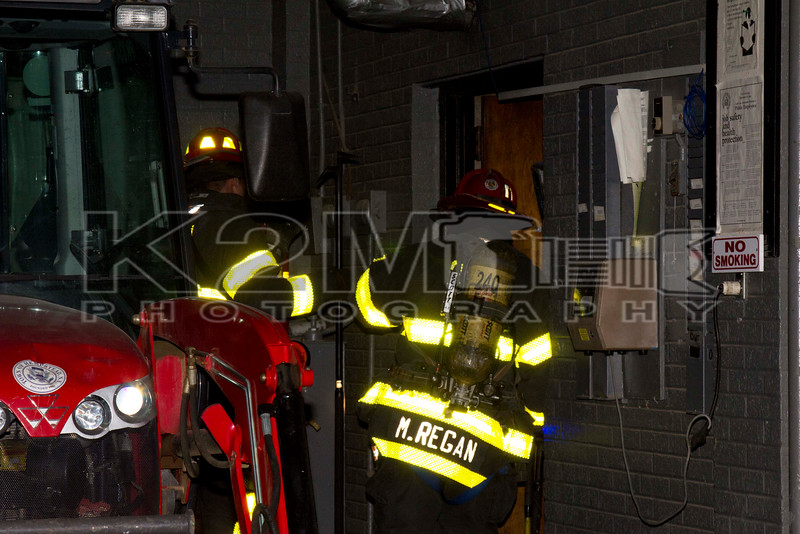Monday, November 3rd, 2014: the Oceanside Fire Department was dispatched to a reported electrical fire inside of a maintenance building in Oceanside Park [3800 Mahlon Brower Boulevard].  When units arrived on scene they were met with a smoke condition inside of the building because of a transformer shorting out and to some degree exploding.  Members of Oceanside Truck Company used dry chemical extinguishers to contain the fire that was present.  One line was stretched off Engine 246 in case it was discovered that the fire extended outside of the transformer.  All fire department units were under the command of Oceanside Second Assistant Chief Kevin Klein [2402].