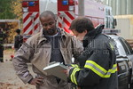 """The worker was checked out by the medical staff of the Rockville Centre Floodlight Company.  He was uninjured in the event, and put down as a """"refused medical attention."""""""