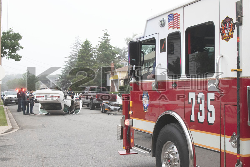 Saturday, June 26th, 2021: the Roosevelt Fire Dept. operated on the scene of a motor vehicle accident with overturn on West Fulton Avenue off Elysian Terrace. There was no entrapment or serious injuries.