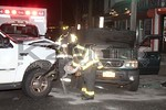 Tuesday, February 14th, 2017: The Roosevelt Fire Department was dispatched to a motor vehicle accident with overturn in front of 488 Nassau Road.  When units arrived on scene they were met with a two-car accident with no overturn or aided.