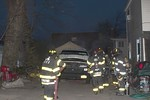 April 7th, 2020: Roosevelt firefighters operated on the scene of a car fire behind a home on Bennett Avenue off Babylon Turnpike.  One hand line was put into operation off Roosevelt Engine 733.