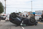 Sunday, August 1st, 2021: the Uniondale Fire Dept. operated on the scene of a motor vehicle accident with overturn at the intersection of Front Street and Maple Avenue. There was no entrapment or serious injuries.
