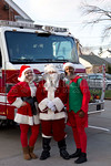 Sunday, December 14th, 2014: Members of Valley Stream Engine 3 prior to their annual Santa Run.
