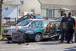 Sunday, April 14th, 2013: The Wantagh Fire Department and Nassau County Police operated on the scene of a motor vehicle accident with entrapment.  The accident was in front of 3299 North Jerusalem Road.