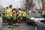 Saturday, February 11th, 2012: Wantagh firefighters operated on the scene of a motor vehicle accident with aided on the Wantagh Avenue overpass of the Southern State Parkway.