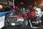 Saturday, April 21st, 2012: the West Hempstead Fire Department operated on the scene of a car versus bus in front of their fire headquarters [295 Hempstead Turnpike].  There was no entrapment and the only aided was the driver of the Ford Explorer.