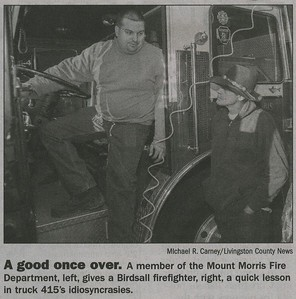Mount Morris FD - Donation of Fire Truck to Birdsall FD - November 25, 2014