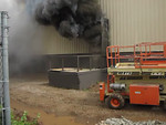 "Dark Turbulent smoke, rapid force pushing. Bad stuff, pre flashover. ""Black Fire"""