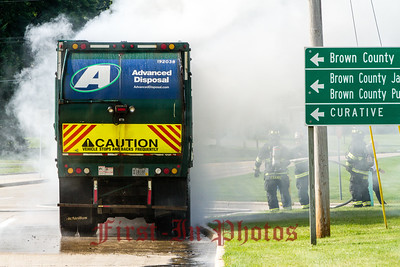 University and Curry- Garbage Truck Fire 8-10-2017