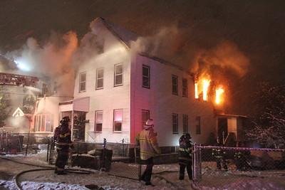3rd Alarm fire Chelsea MA 1/24/15