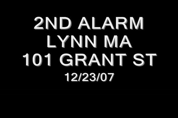2nd alarm Lynn Ma 101 Grant St 12/23/07