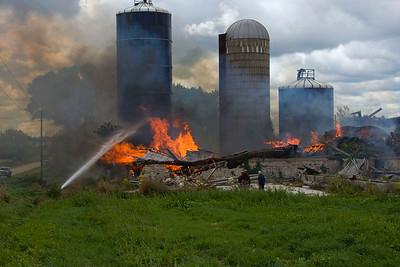 Greenleaf Fire Dept. Ledgetop Rd. Barn Fire