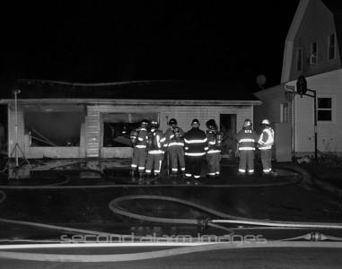 Greenleaf Fire Dept. Garage Fire 11-01-2010