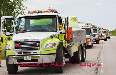 Greenleaf, WI Garage Fire 06-14-2014
