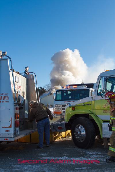 Greenleaf, WI Big Valley Rd. Fire 01-05-2015