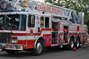 The first truck company to arrive on scene, CSFD Truck 1.