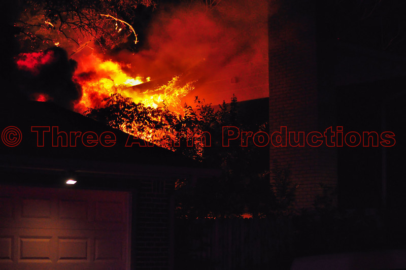 Family makes it out safely, after their house catches fire in Cimarron Hills, Colorado. 10/23/2013