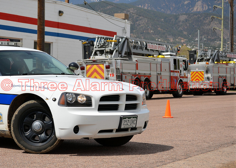 20 fire units and 80 firefighters battle a 4 alarm fire at Martin Drake Power Plant in Colorado Springs, Colorado. Date of incident-May 5, 2014