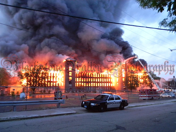 Nine Alarm Fire In A Vacant Four Story Mill Type Building In The Fairmount Village Area Of Woonsocket