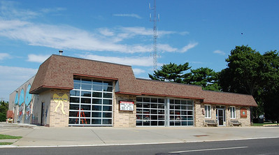 Absecon Firehouse built in 1956 with latest addition built in 1987