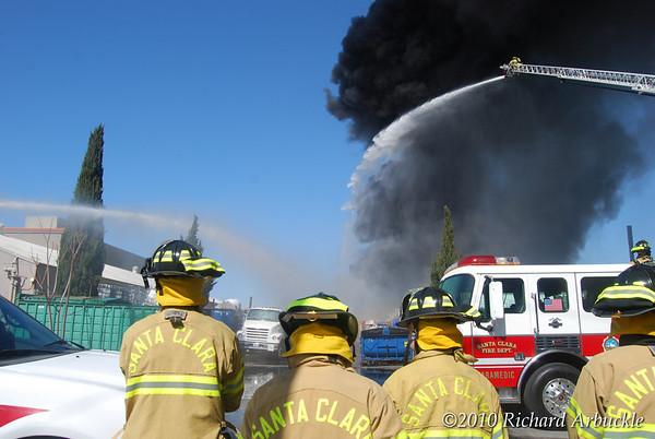 Fire Santa Clara, CA 3 10 2010