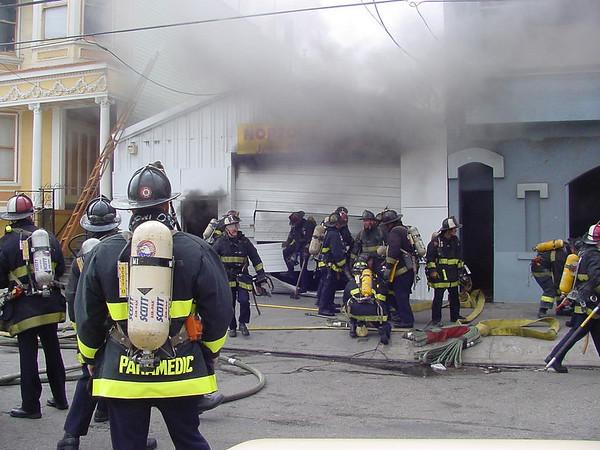 San Francisco Auto Shop Fire