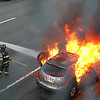 Belmont, MA - Vehicle Fire, Route 2 East at Park Ave, 10-5-14 : Fully Involved vehicle fire on Route 2.