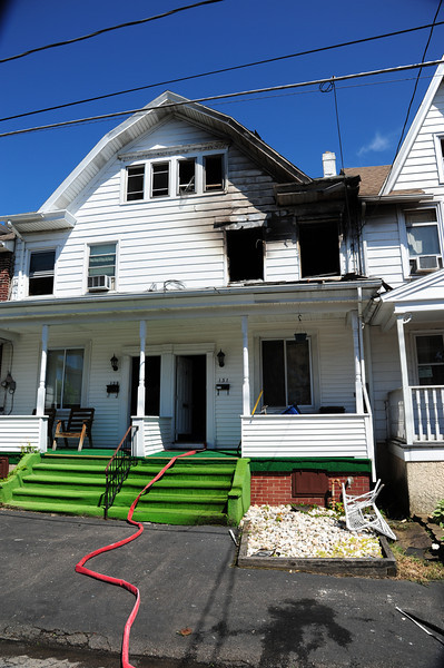 Aftermath of a structure fire at 131 S. Vine St. in Hazleton