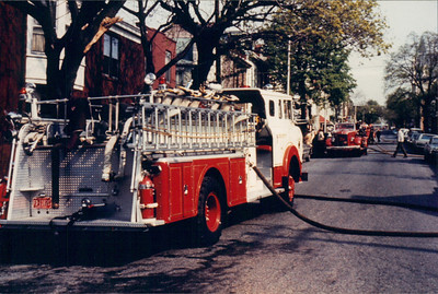 Engine 5 & engine 3-A pumping, photographer unknown.