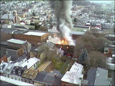 Photo by William Lumnychuk Sr., From the upper floors of the Rhodes Apartments.