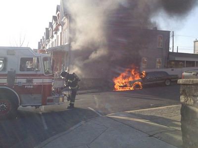 12th & Muhlenberg Vehicle Fire