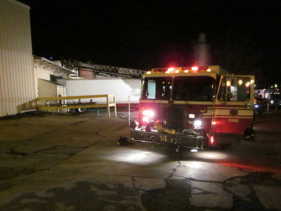 First Due Engine 14 at Interstate Container Box Alarm, Photo by Jason Batz 3.1.2011