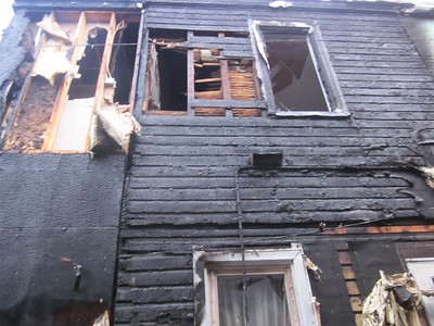 Aftermath of the fire in the rear. Jason Batz